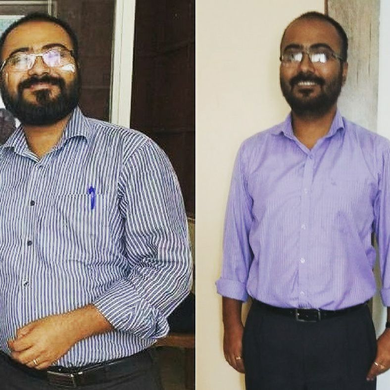 Anshuman Sen before and after