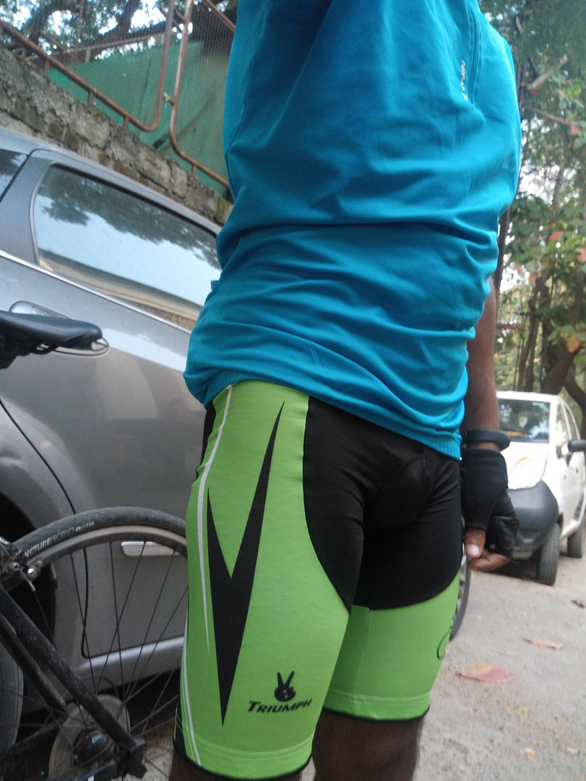triumph gel cycling short